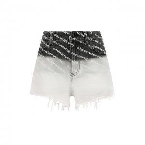 Джинсовые шорты Denim X Alexander Wang. Цвет: чёрно-белый