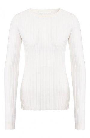 Шерстяной пуловер Helmut Lang. Цвет: кремовый