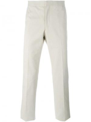 Классические брюки Thom Browne. Цвет: телесный