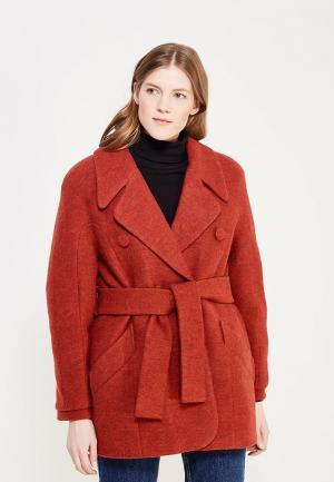 Пальто Soeasy MP002XW1AOXN. Цвет: оранжевый