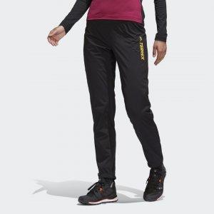 Брюки для беговых лыж Terrex Agravic adidas. Цвет: черный