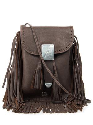 Кожаная сумка High. Цвет: коричневый