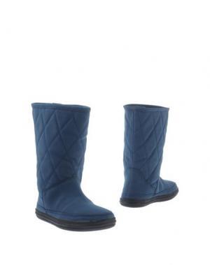 Полусапоги и высокие ботинки ANNA FIELD. Цвет: грифельно-синий