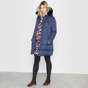 Куртка с капюшоном для периода беременности LA REDOUTE MATERNITÉ. Цвет: темно-синий