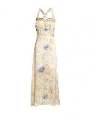 Длинное платье ANNA SUI. Цвет: бежевый
