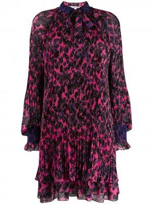 Плиссированное платье с цветочным принтом Derek Lam 10 Crosby. Цвет: розовый