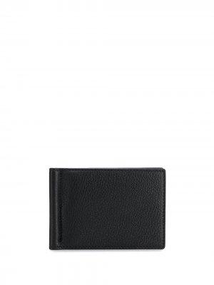 Фактурный кошелек с зажимом для купюр Thom Browne. Цвет: черный