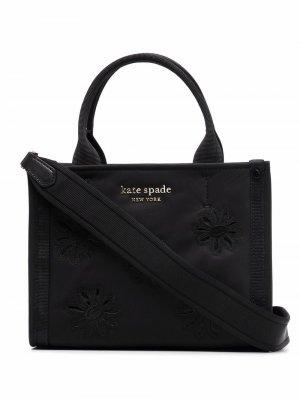 Маленькая сумка-тоут с вышивкой Kate Spade. Цвет: черный