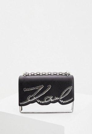Сумка Karl Lagerfeld. Цвет: серебряный