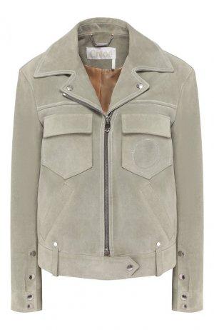 Кожаная куртка Chloé. Цвет: зеленый