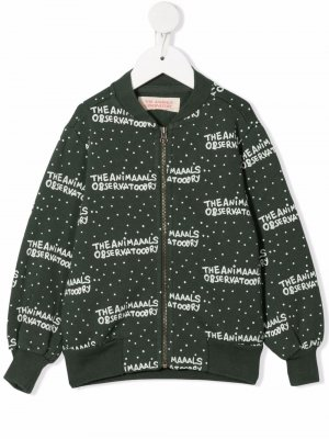 All-over logo print bomber jacket The Animals Observatory. Цвет: зеленый