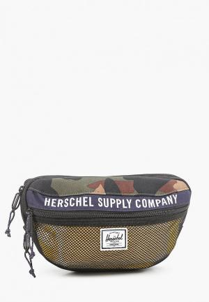Сумка поясная Herschel Supply Co Nineteen. Цвет: хаки