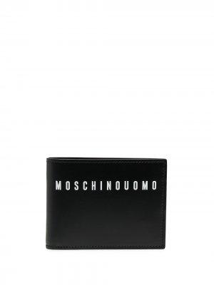 Кошелек с логотипом Moschino. Цвет: синий