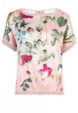 Блуза ELISA FANTI. Цвет: розовый