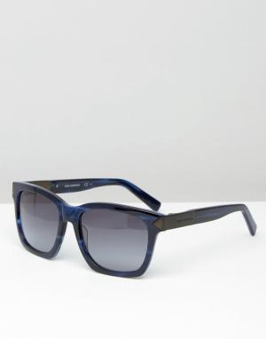 Квадратные солнцезащитные очки Karl Lagerfeld. Цвет: синий