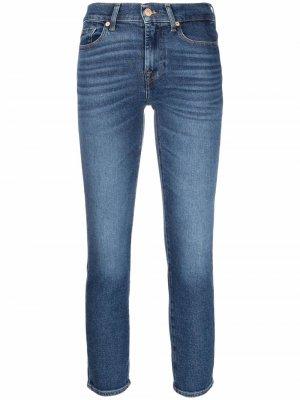 Roxanne mid-rise skinny jeans 7 For All Mankind. Цвет: синий