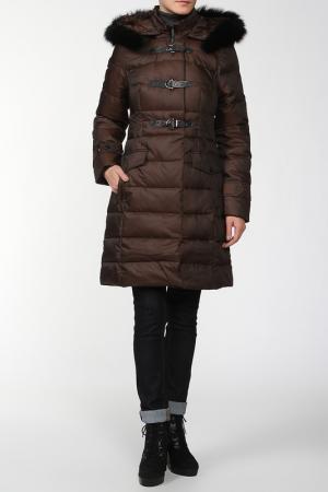 Пальто Lawine. Цвет: коричневый