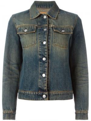 Джинсовая куртка с линялым эффектом Helmut Lang Pre-Owned. Цвет: синий