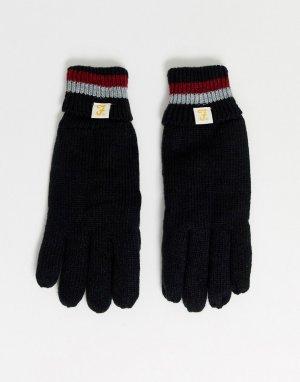 Перчатки в полоску Trivor-Черный Farah