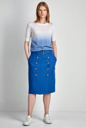 Юбка льняная VASSA&Co. Цвет: голубой