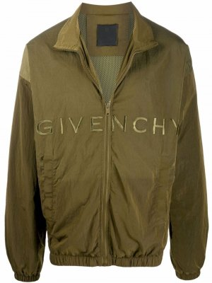 Ветровка с вышитым логотипом Givenchy. Цвет: зеленый