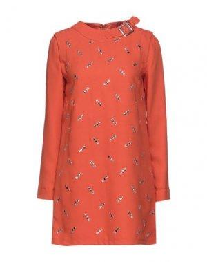 Короткое платье DENNY ROSE. Цвет: ржаво-коричневый