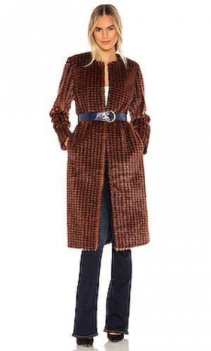 Пальто cayson House of Harlow 1960. Цвет: коричневый