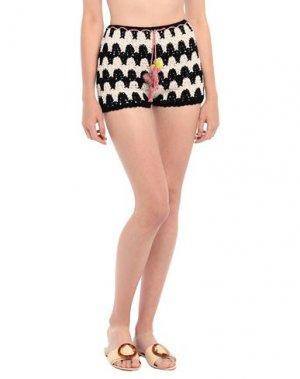 Пляжные брюки и шорты ANNA KOSTUROVA. Цвет: черный