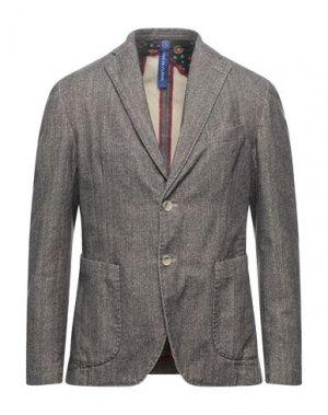 Пиджак LOST IN ALBION. Цвет: голубиный серый
