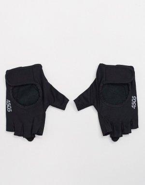 Уплотненные перчатки для тренажерного зала с открытыми пальцами и регулируемым ремешком -Черный ASOS 4505