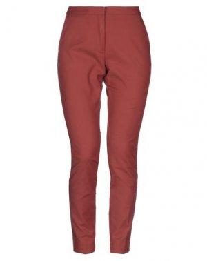 Повседневные брюки KI6? WHO ARE YOU?. Цвет: кирпично-красный