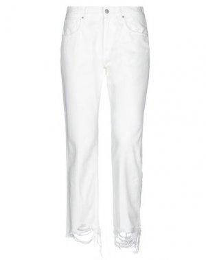 Джинсовые брюки DON THE FULLER. Цвет: белый