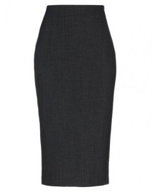 Юбка длиной 3/4 PIERANTONIO GASPARI. Цвет: стальной серый