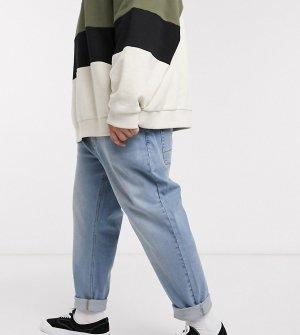 Голубые зауженные джинсы Plus-Синий ASOS DESIGN