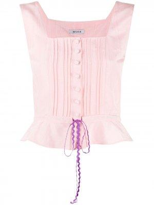 Корсетный топ Batsheva. Цвет: розовый