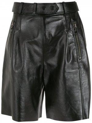 Кожаные шорты Penny прямого кроя Nk. Цвет: черный