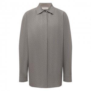 Рубашка The Row. Цвет: серый