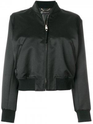 Куртка-бомбер Medusa Versace. Цвет: черный
