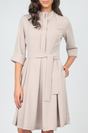 Платье Carla Giannini. Цвет: бежевый