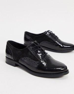 Черные броги на шнуровке Aldo-Черный ALDO