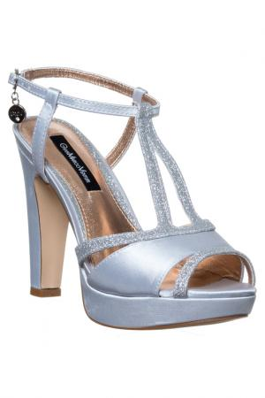 High heels sandals GianMarco Venturi. Цвет: silver