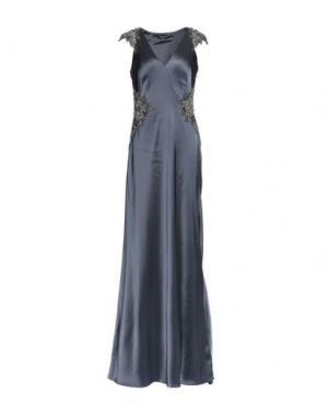 Длинное платье CATHERINE DEANE. Цвет: стальной серый