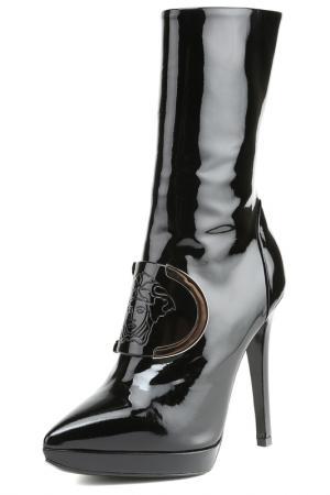 Полусапоги Versace. Цвет: черный