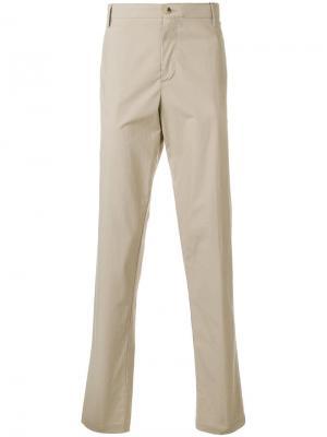 Прямые брюки-чинос Kenzo. Цвет: бежевый