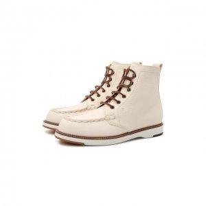 Кожаные ботинки Tod's. Цвет: белый