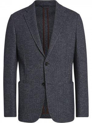 Однобортный пиджак Ermenegildo Zegna. Цвет: синий