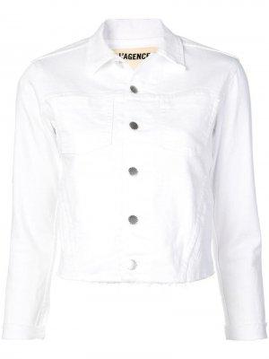 LAgence классическая джинсовая куртка L'Agence. Цвет: белый