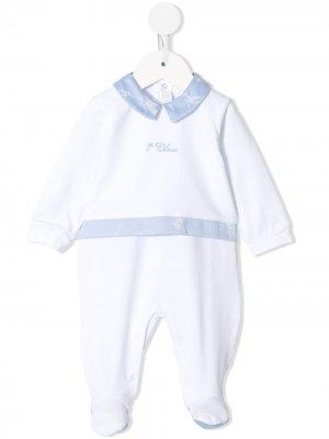 Пижама с контрастным воротником Alviero Martini Kids. Цвет: белый
