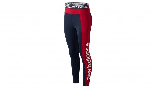 Леггинсы RELENTLESS GRAPHIC HIGH RISE 7/8 TIGHT New Balance. Цвет: красный