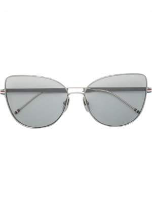 Солнцезащитные очки в оправе кошачий глаз Thom Browne Eyewear. Цвет: черный